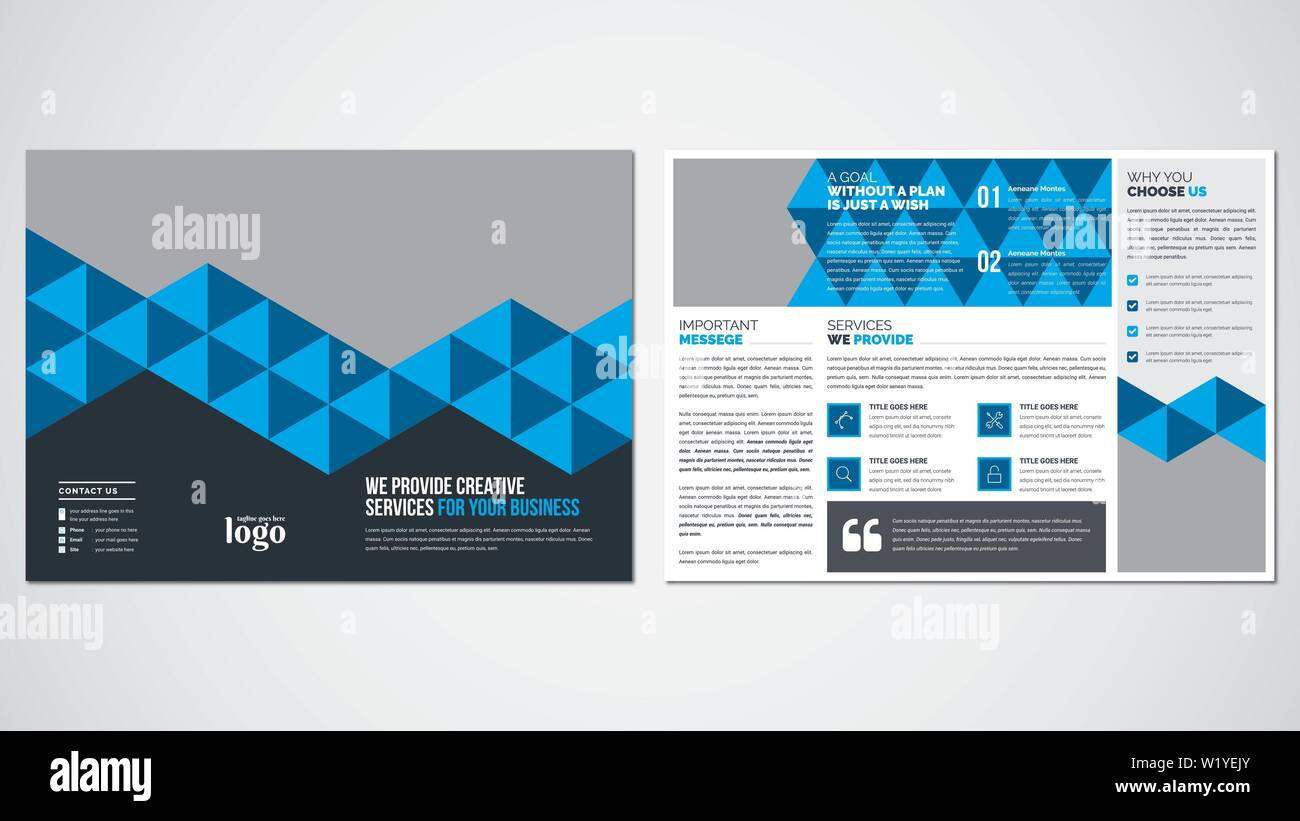 Pattern Bi Fold Brochure Design - Stock Image