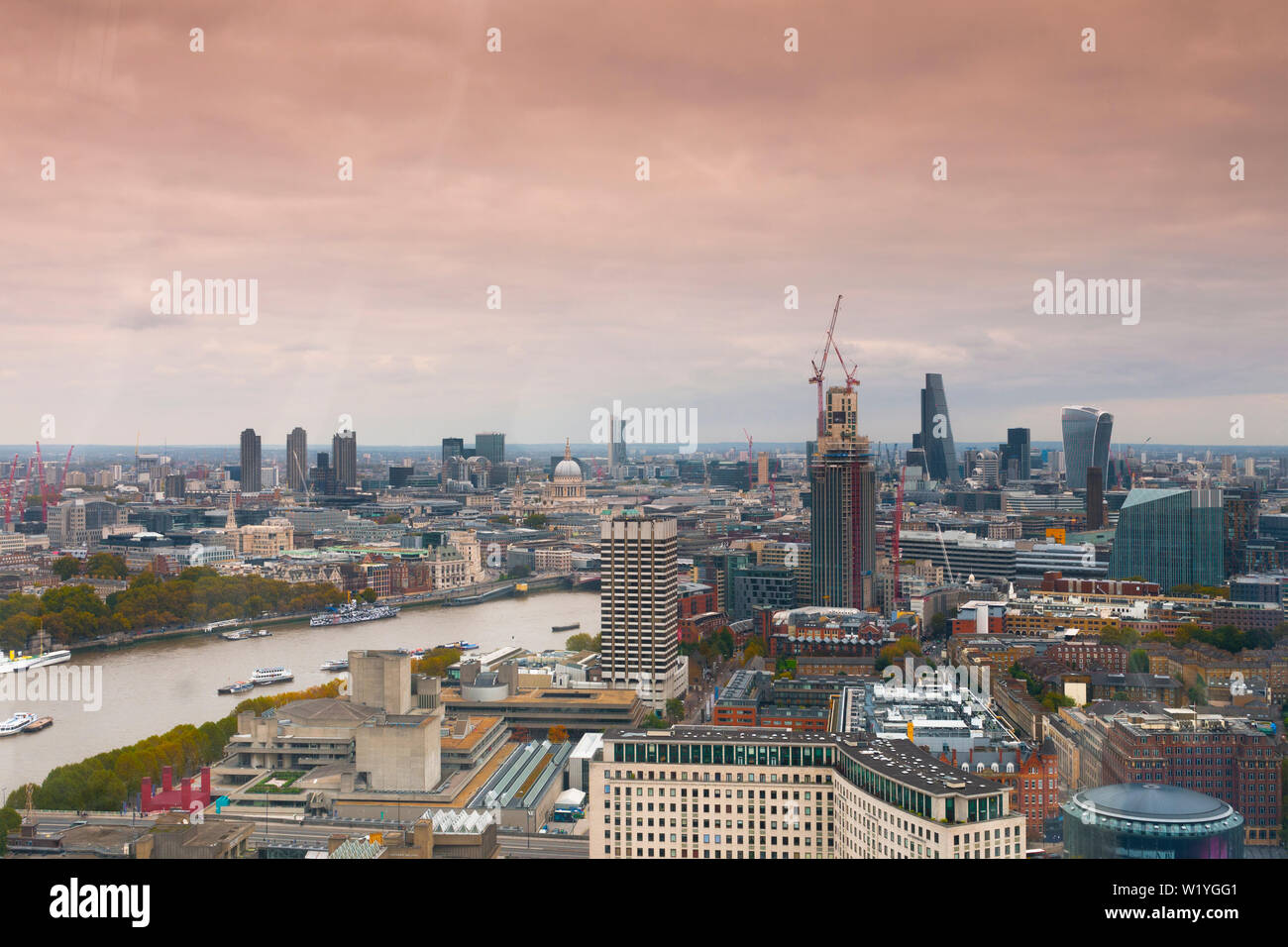 London unusual landscape from ferris wheel - Stock Image
