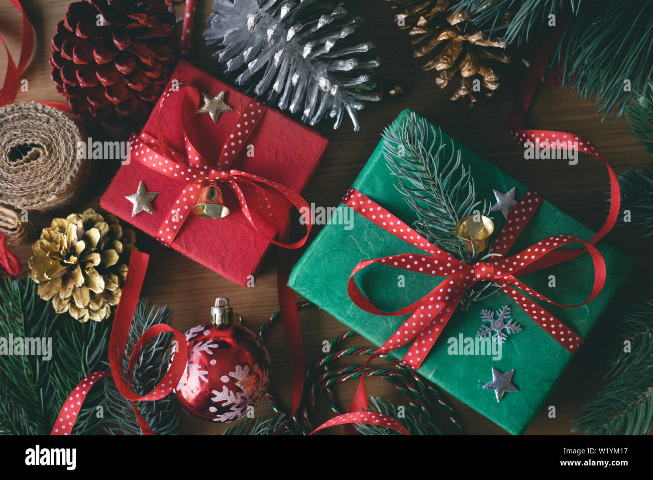 Merry Christmas Concepts With Decorate Gift Box Present And