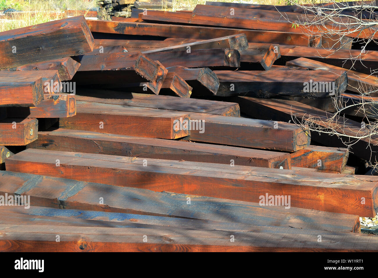 Wooden Sleeper Stock Photos & Wooden Sleeper Stock Images - Alamy