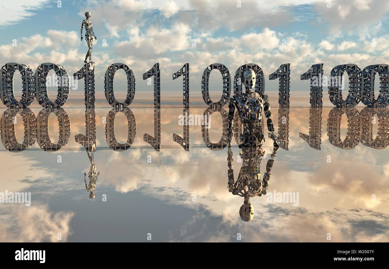 Binary Code - Stock Image