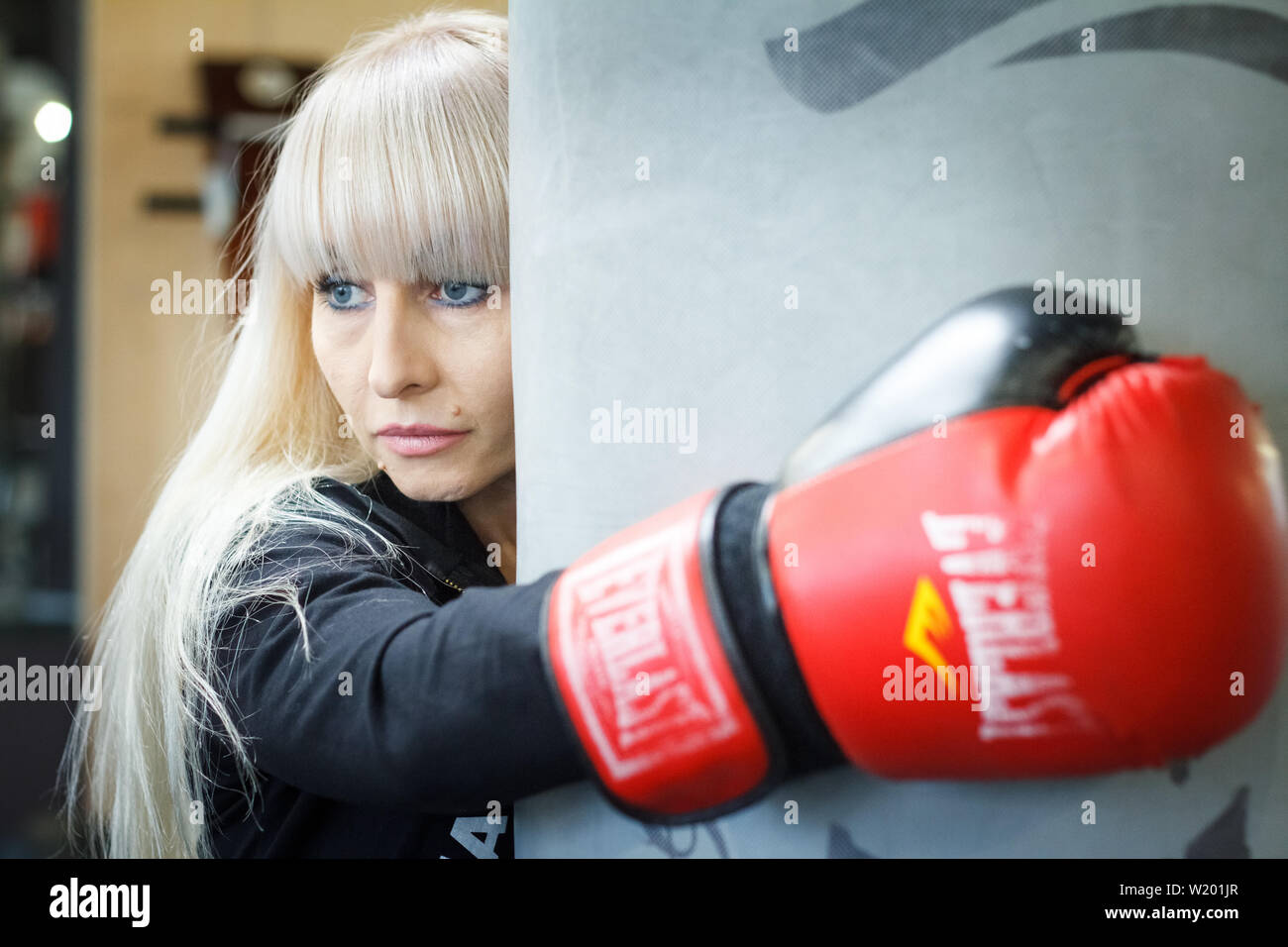 Woman Punch In The Face Stock Photos Woman Punch In The