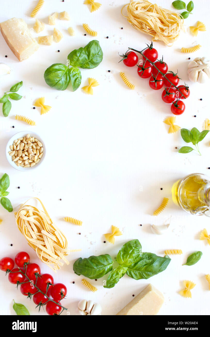 Food background with traditional ingredients for ...