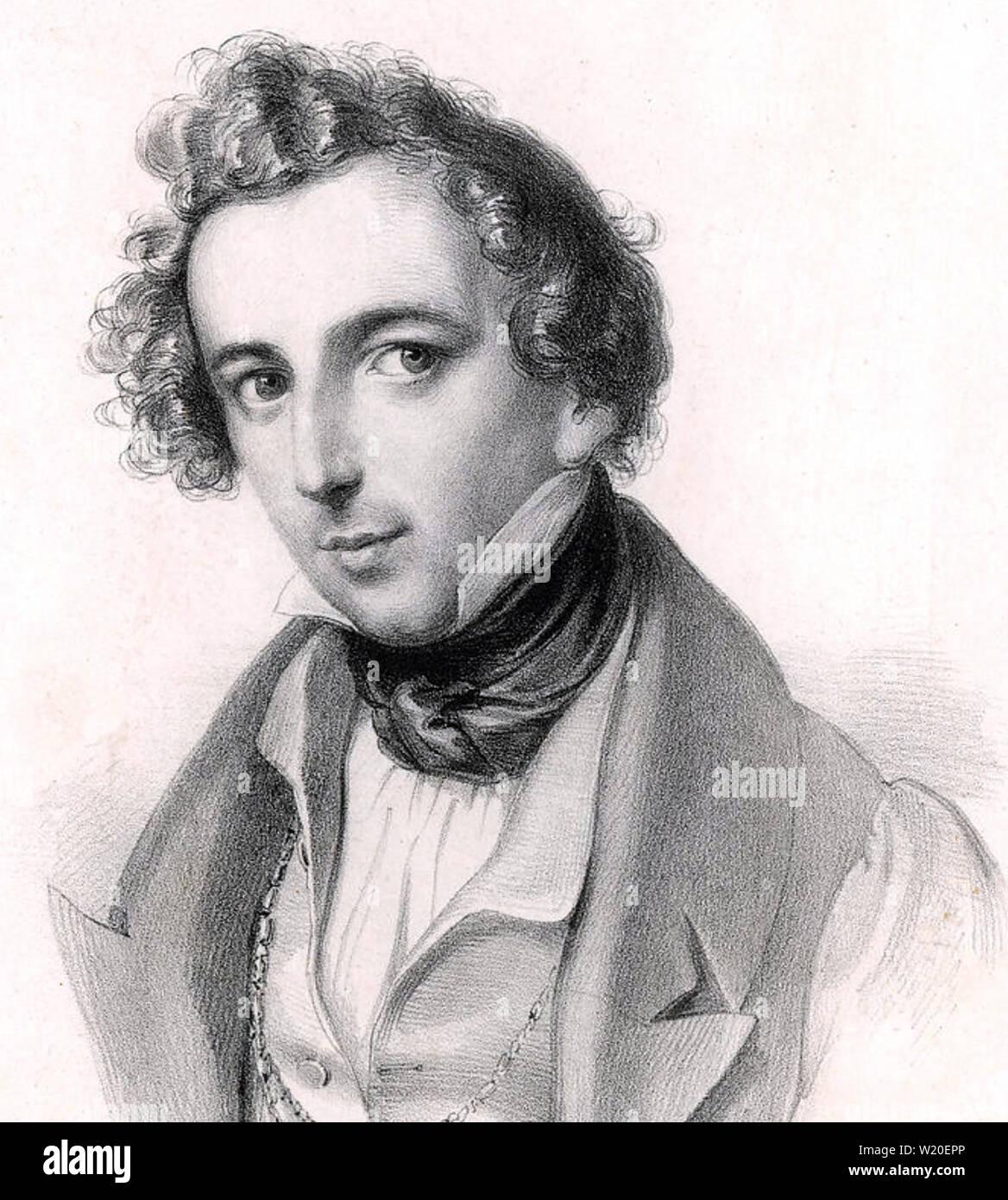 FELIX MENDELSSOHN (1809-1847) German composer about 1840 - Stock Image