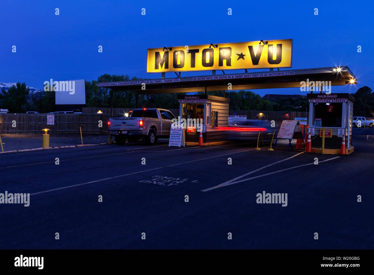 Motor Vu Drive In In Riverdale Utah Stock Photo Alamy