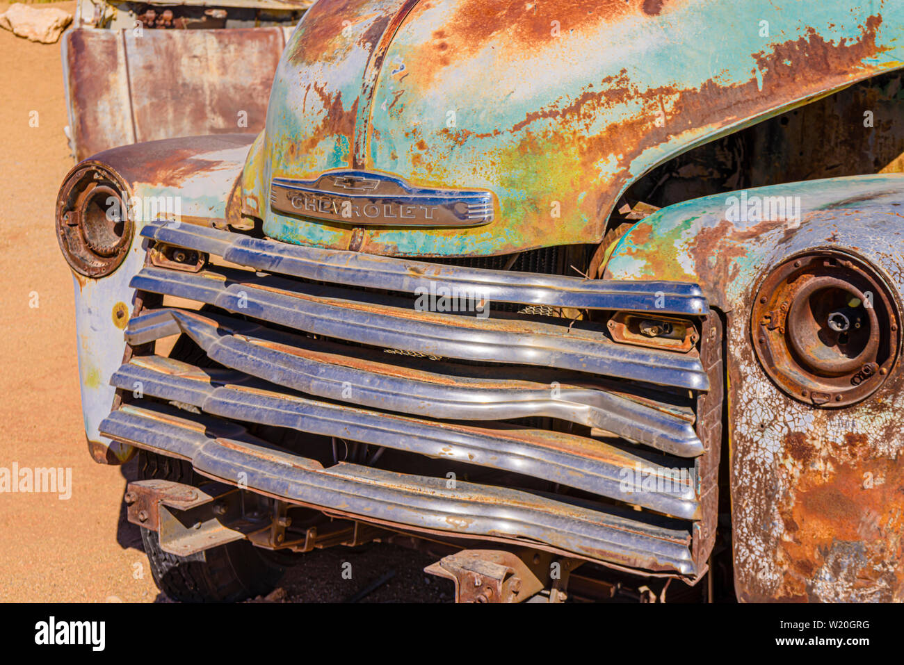 Rusty Chevrolet Pick Up Truck In The Car Park At Solitaire Sesriem Namibia Stock Photo Alamy