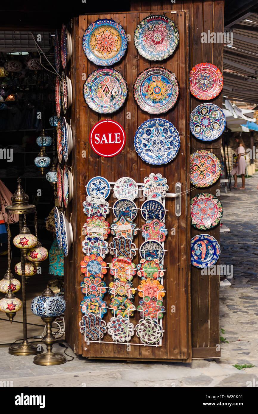 Handmade Vintage Bulgaria Plate Decorative Ceramic Wall Travel Souvenir