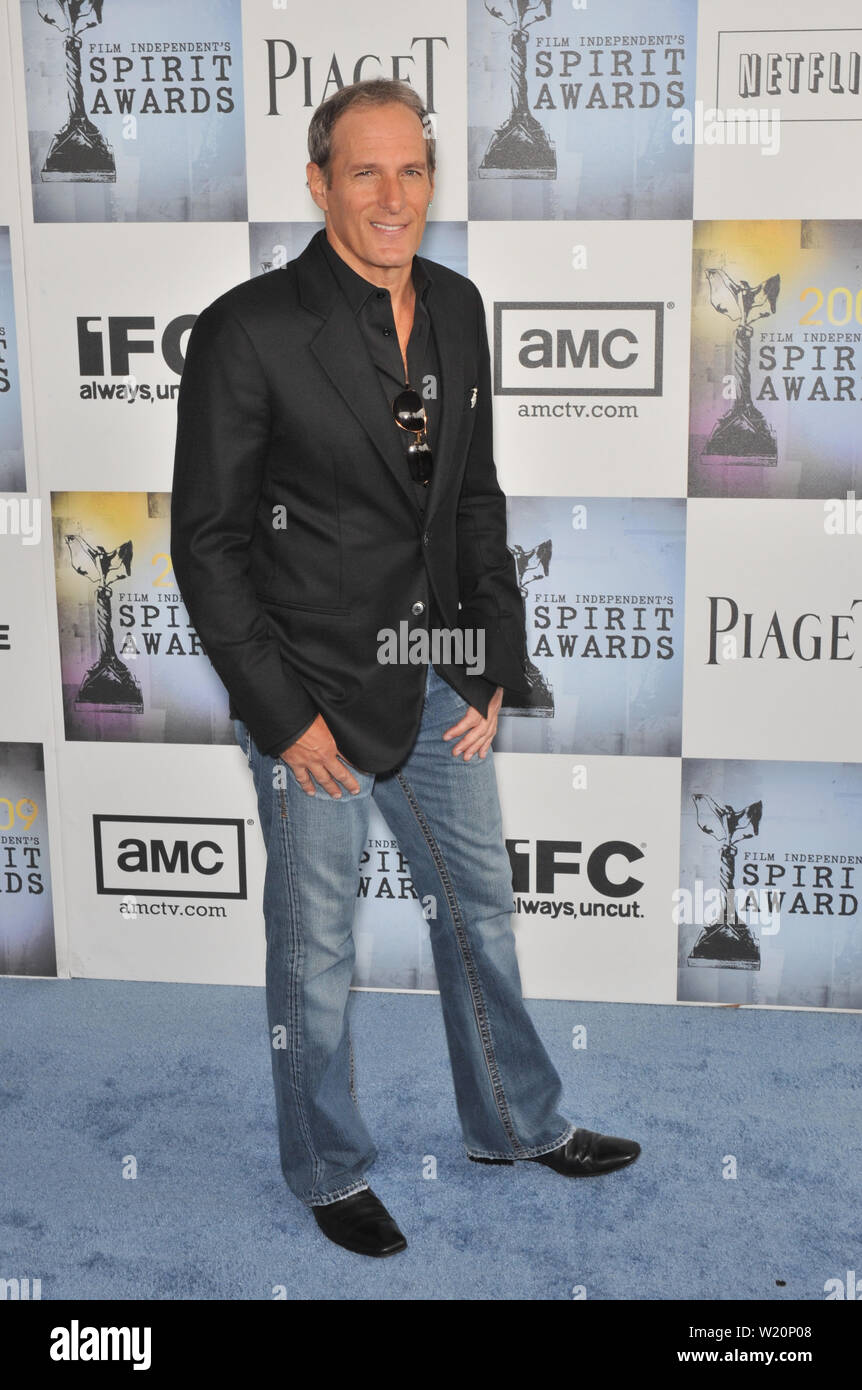 LOS ANGELES, CA. February 21, 2009: Michael Bolton at the Film Independent Spirit Awards on the beach at Santa Monica, CA. © 2009 Paul Smith / Featureflash - Stock Image