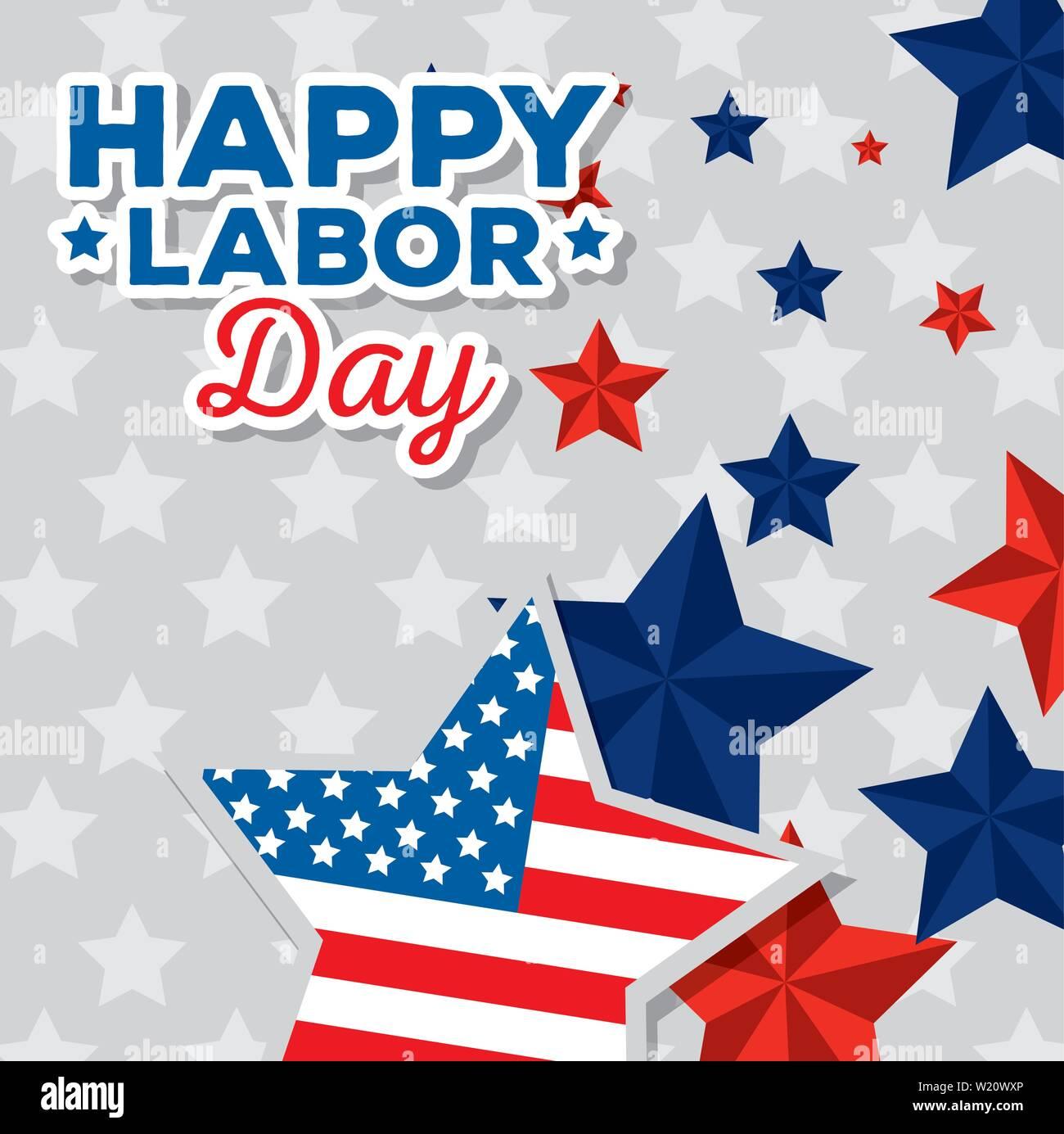 Happy Traditional Labor Day Celebration Stock Vector Art