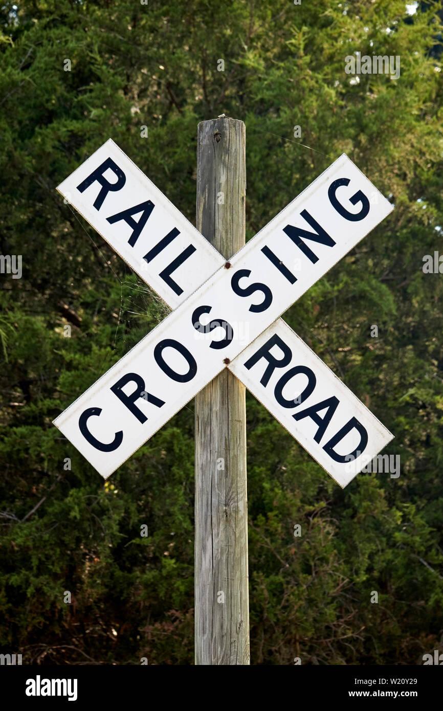 Rail Road Crossing Sign Stock Photos & Rail Road Crossing