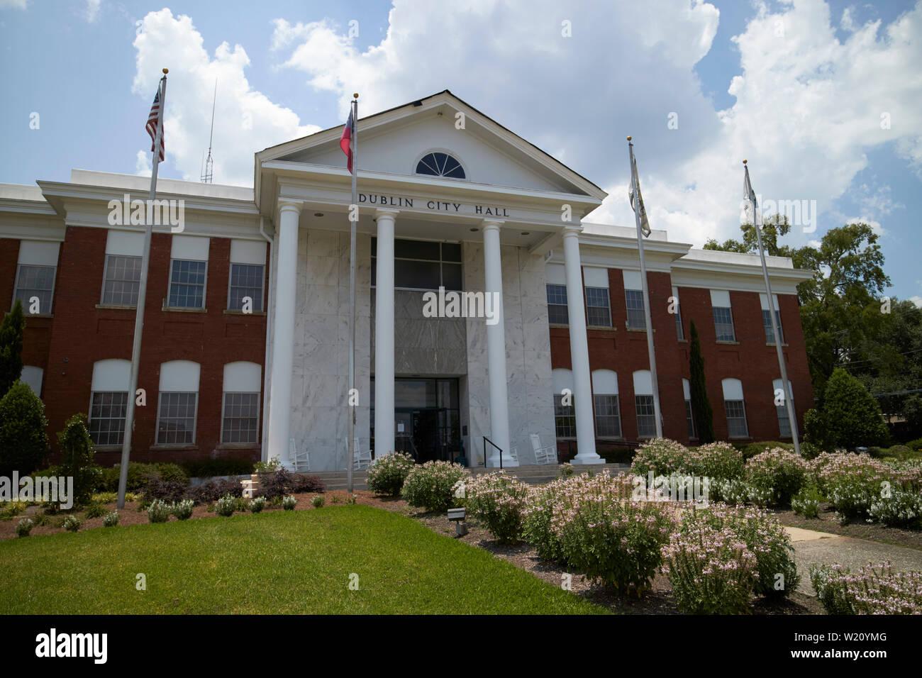 Dublin City Hall Dublin Georgia USA - Stock Image