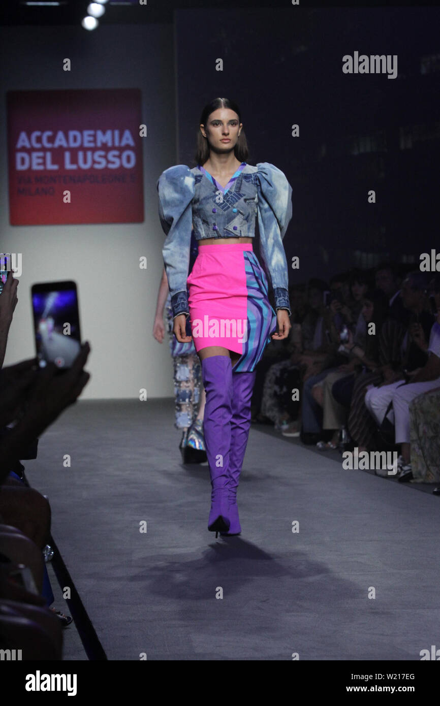 Rome Italy 04th July 2019 Italian Accademia Del Lusso Presenting His New Spring Summer Collection At Altaroma 2019 Hosted In Pratibus District In Rome Credit Paolo Pizzi Pacific Press Alamy Live News Stock Photo