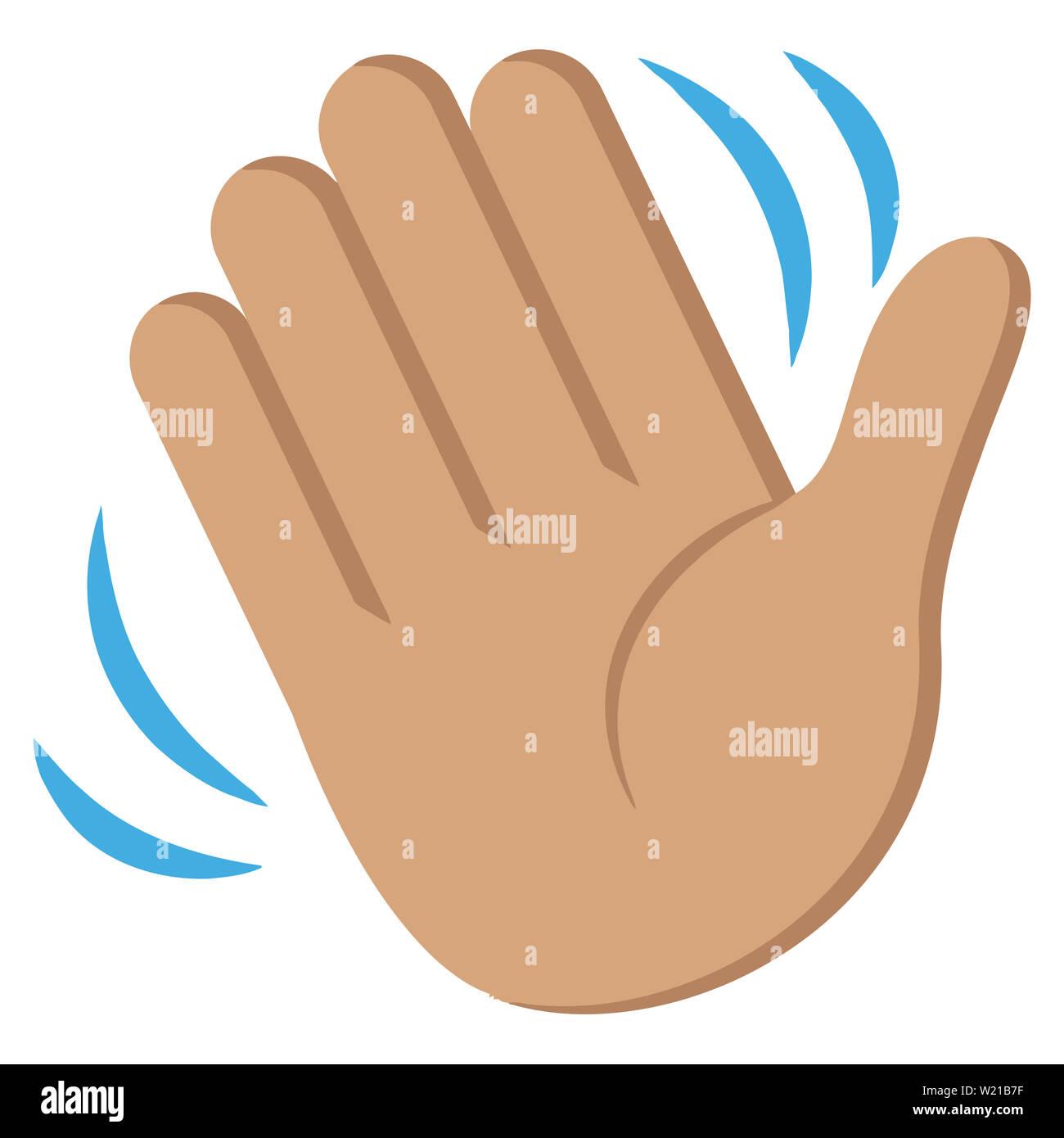 hand waving drawing - 840×851