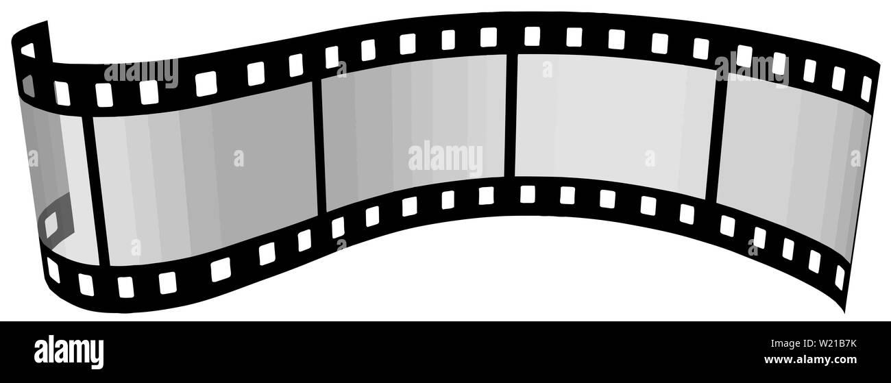photographic film 35 mm roll frame illustration - Stock Image