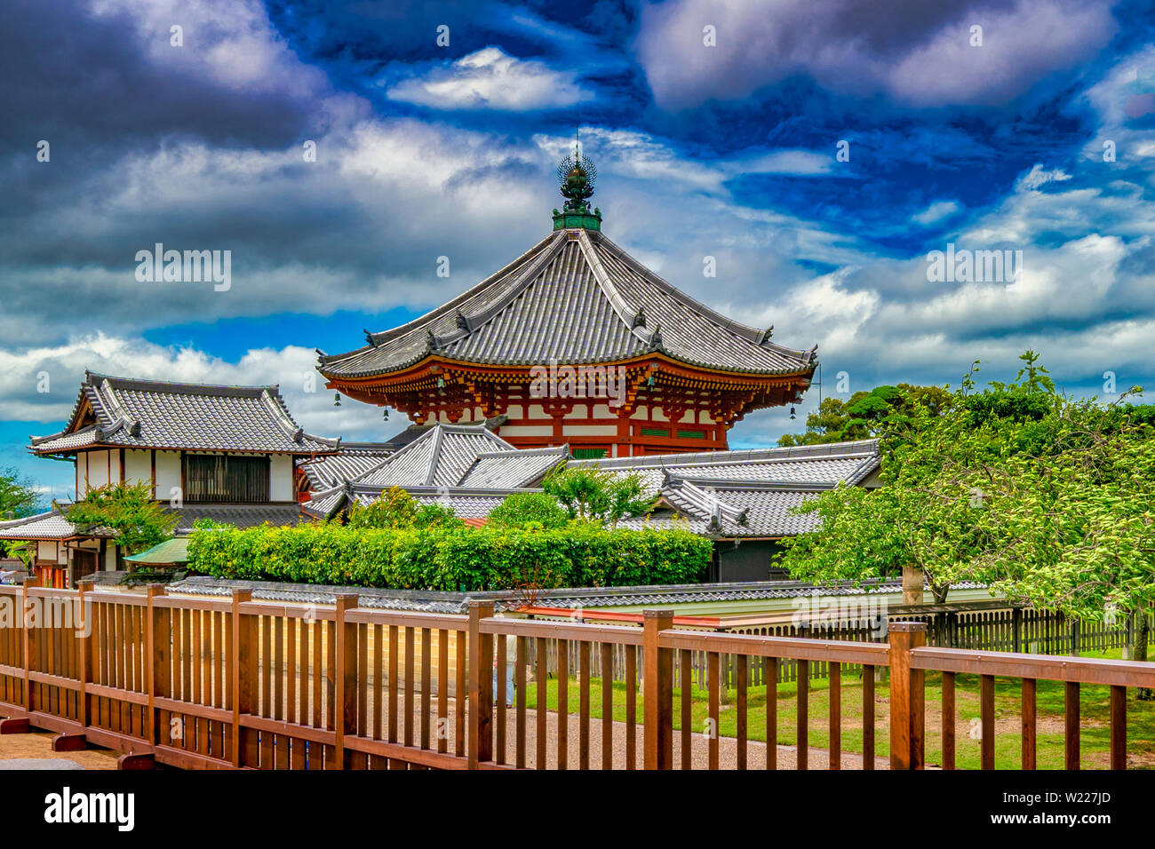 Kōfuku-ji Temple. A complex of Buddhist temple halls & pagodas, withan on-site museum showcasing national treasures. Stock Photo