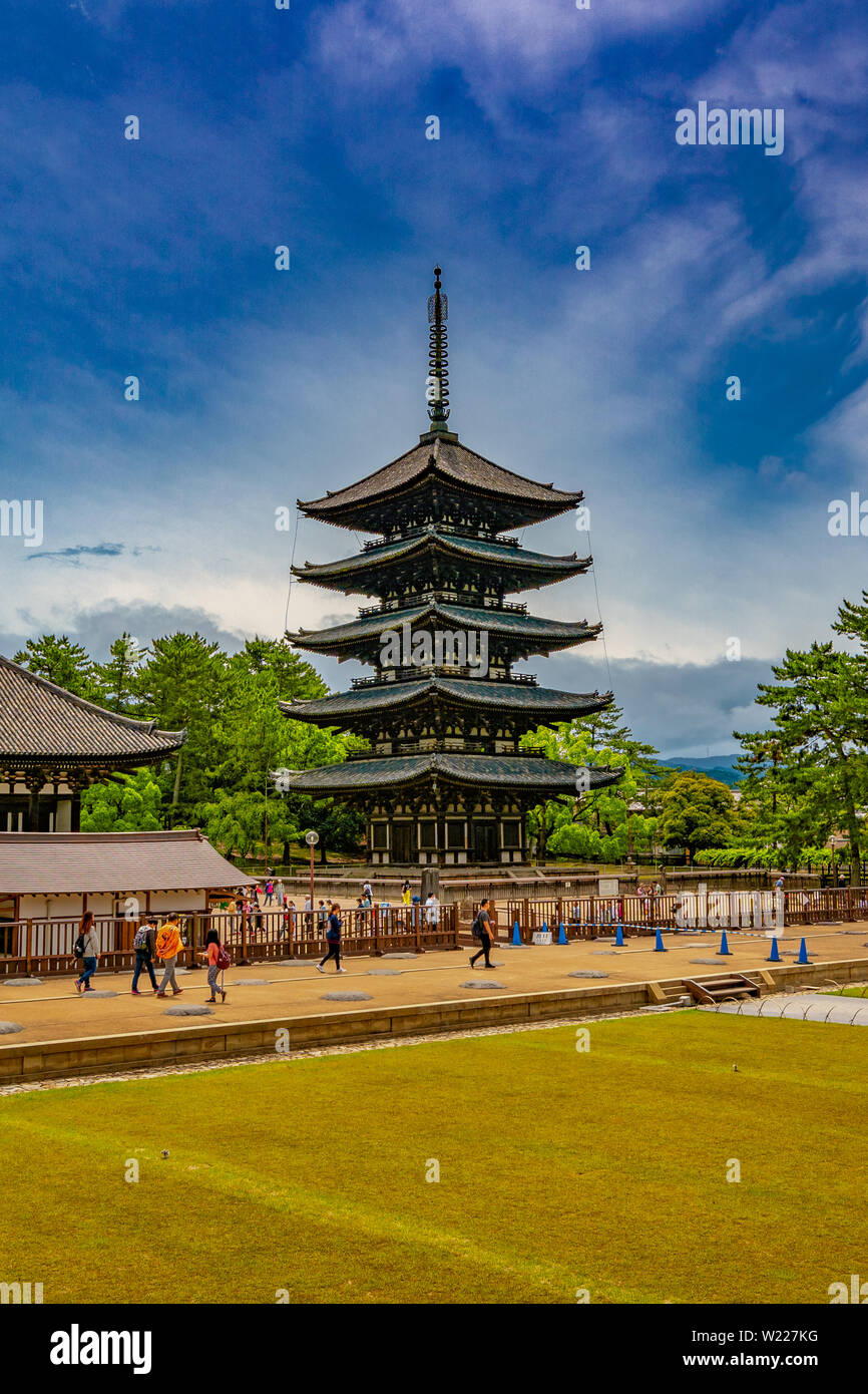 Kōfuku-ji Temple. A complex of Buddhist temple halls & pagodas, withan on-site museum showcasing national treasures. - Stock Image