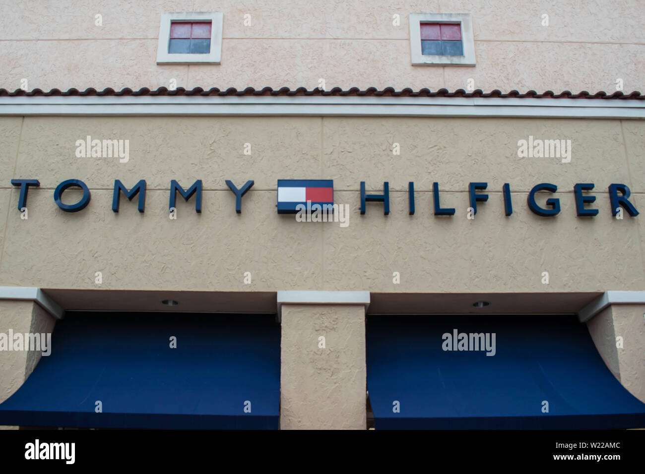 3b7d8d5b Orlando, Florida. June 6, 2019 . Tommy Hilfiger sign and logo at Premium