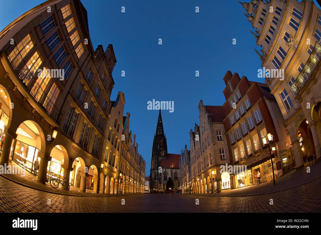 Prinzipalmark Münster Stock Photo