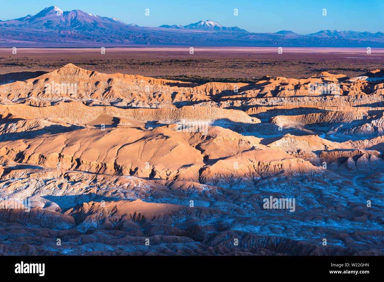 Salt formations at Valle de la Luna (spanish for Moon Valley), also know as Cordillera de la Sal (spanish for Salt Mountain Range), Los Flamencos Nati Stock Photo