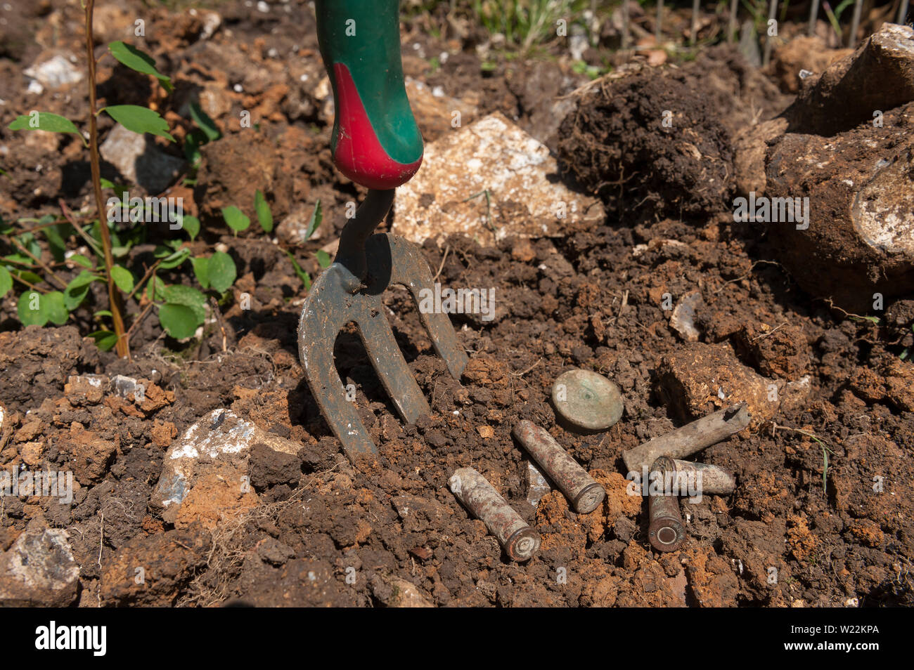 Dangers of gardening a new patch of soil in a garden once in