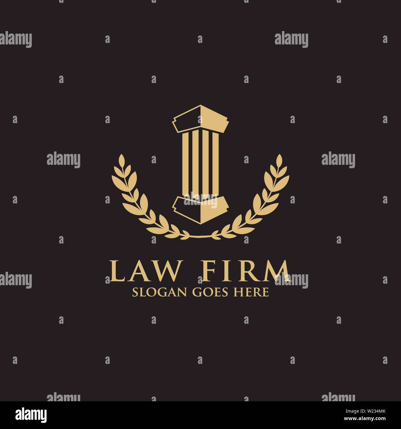 elegance law firm logo design template Stock Vector Art