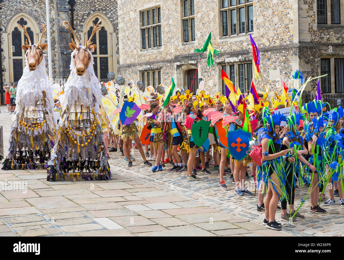 Winchester, Hampshire, UK  5th July 2019  Winchester Hat Fair