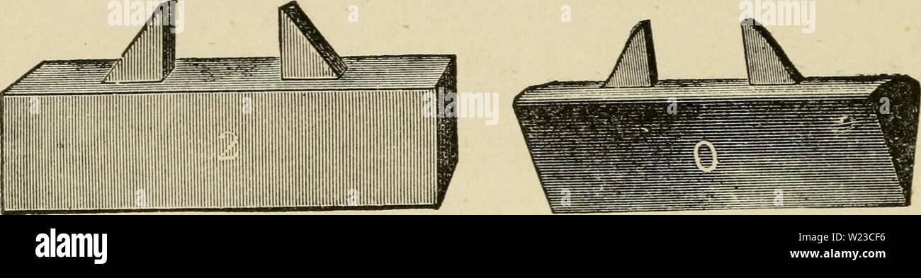 Archive image from page 153 of Das pferd  Ein buch. Das pferd ... Ein buch für das volk, enthaltend die praktischen erfahrungen nach jeder richtung hin, die ein hufschmied in siebenunddreissigjähriger thätigkeit gesammelt;  daspferdeinbuchf00pitc Year: 1880  0. F. DEWICK & CO. |Jatcntiricn ljufcifcn-0pi|cn, (TOE CALI£}5i) South Bostonf Mass.    liiiiiiiiiiiiiiiiiiiii yio. 1, 3, 3, 4, 5. fo- 0, 1, 3, 3, 4. 11 tften nerpacft 511 ie 25 vr'nub. Stock Photo