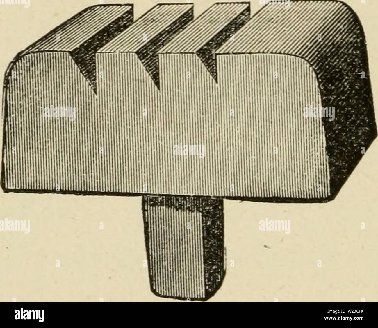 Archive image from page 153 of Das pferd  Ein buch. Das pferd ... Ein buch für das volk, enthaltend die praktischen erfahrungen nach jeder richtung hin, die ein hufschmied in siebenunddreissigjähriger thätigkeit gesammelt;  daspferdeinbuchf00pitc Year: 1880  liiiiiiiiiiiiiiiiiiiii yio. 1, 3, 3, 4, 5. fo- 0, 1, 3, 3, 4. 11 tften nerpacft 511 ie 25 vr'nub.    Stcmjjcl um StttJCtfecn f(arfcr Sicn. SK?ir finb ietit im Stanbe, itt 23erbinbunc; mit uniercii befannten ein',ingi gen et)ipil3en and] yoeiingige iiacf) obigem 93hi[ter u offeriren. '4iefe pit3en eignen fid) ooqiiglid) fiir bie mit Jiafcti Stock Photo