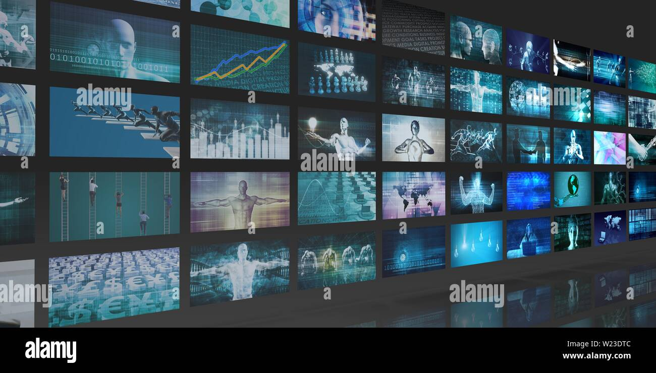Video Analytics Technology and Content Analysis Concept - Stock Image