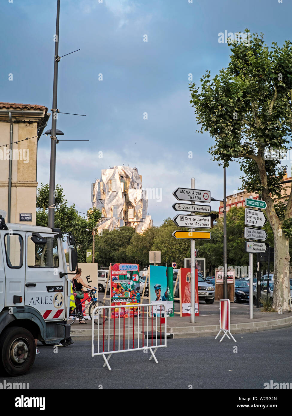 LUMA Arles building by Frank Gehry, June 2019, seen from Boulevard