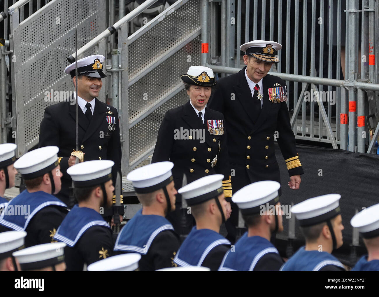 Faslane Naval Base marks its 50 year anniversary of the Continuous At Sea Deterrent (CASD) on the River Clyde. - Stock Image