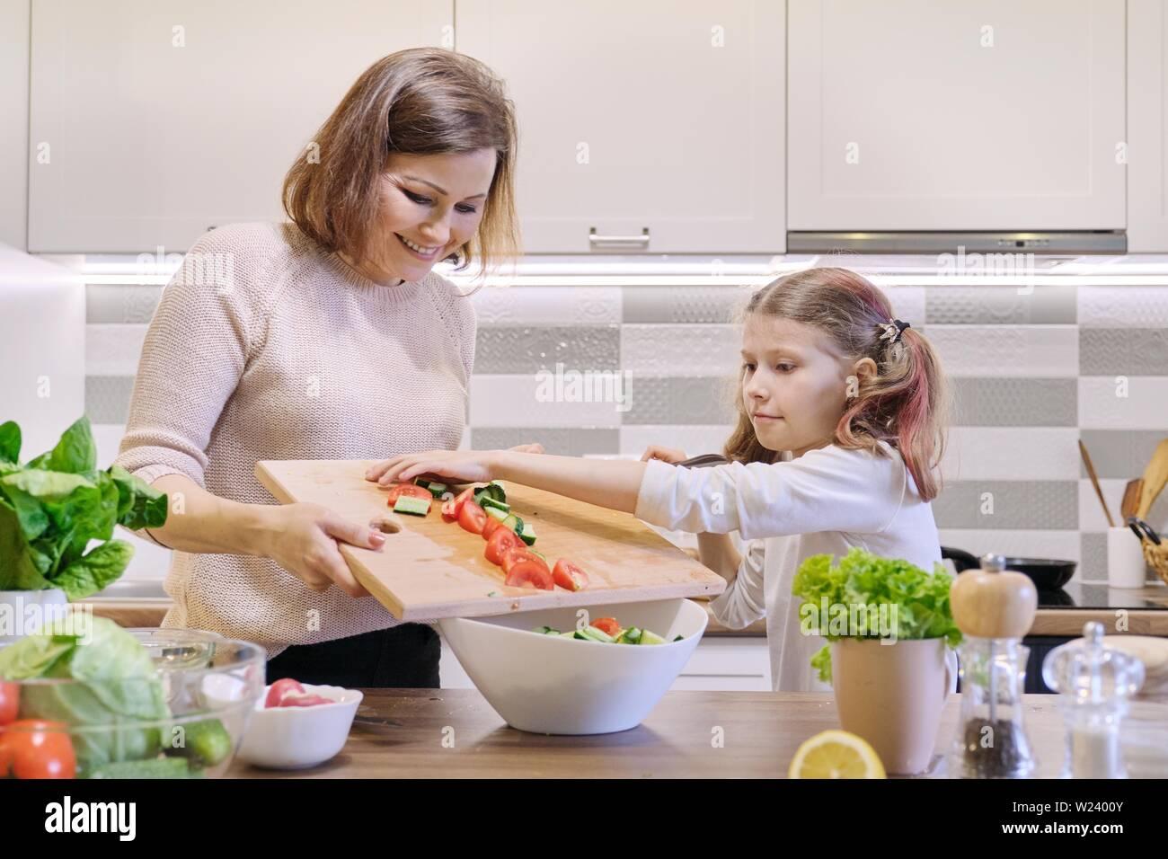 Woman Salad Kitchen Cooking Cook Indoor Food Fun Preparing