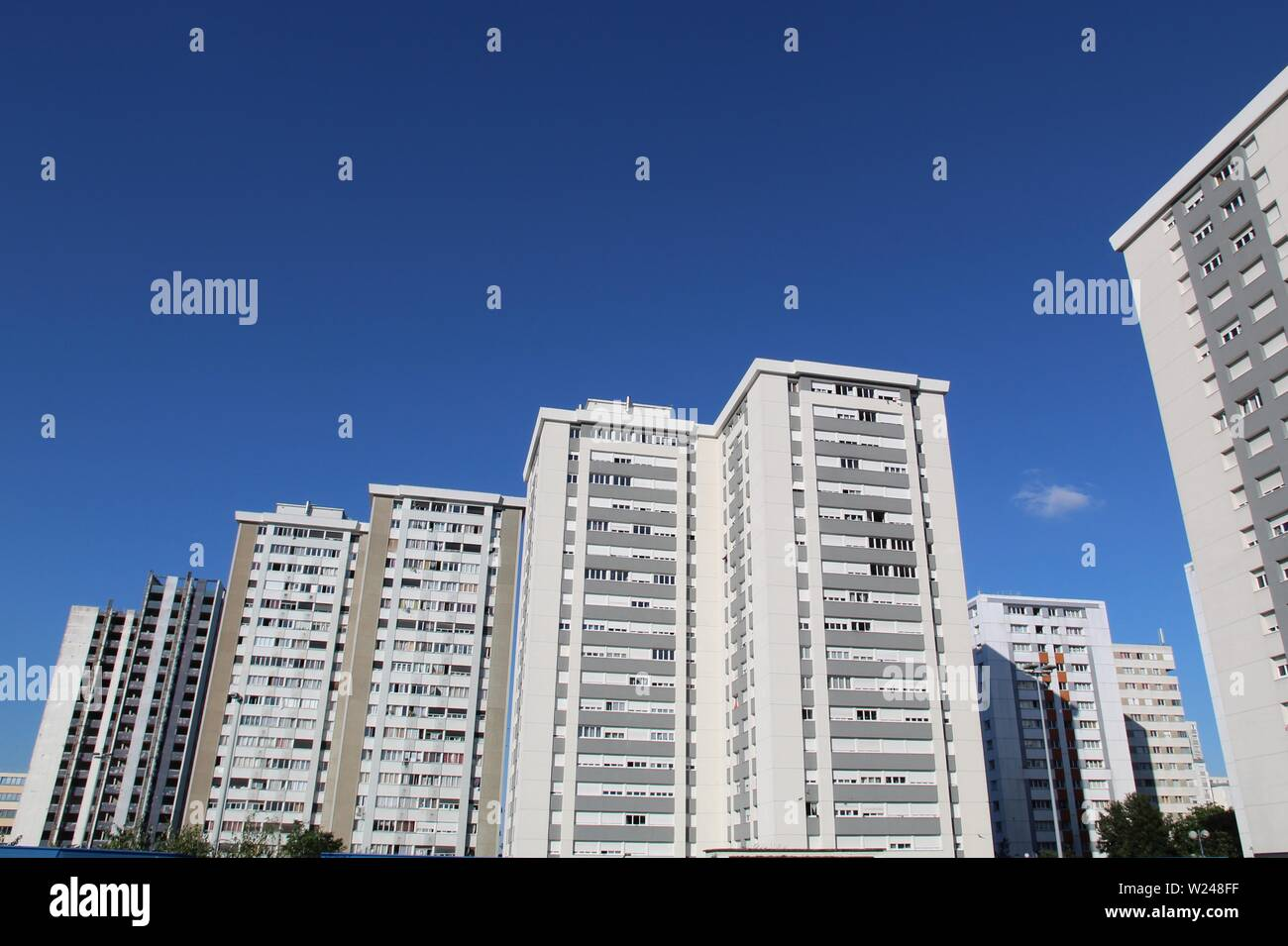 High rise flats - Stock Image