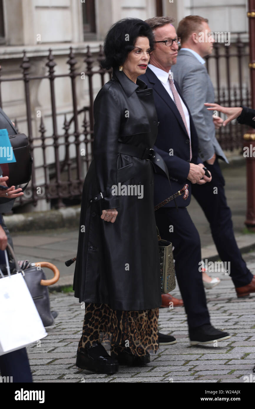 Royal Academy of Arts Summer Exhibition Preview Party - Arrivals Featuring: Bianca Jagger, Thaddaeus Ropac Where: London, United Kingdom When: 04 Jun 2019 Credit: Lia Toby/WENN.com - Stock Image