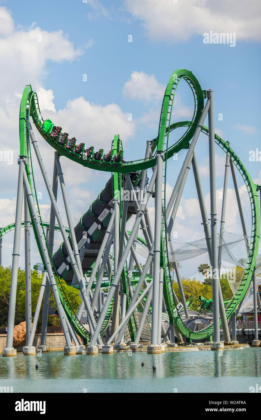 The Incredible Hulk Coaster Universal Studios Universal S Islands Of Adventure Orlando Florida Usa Stock Photo Alamy