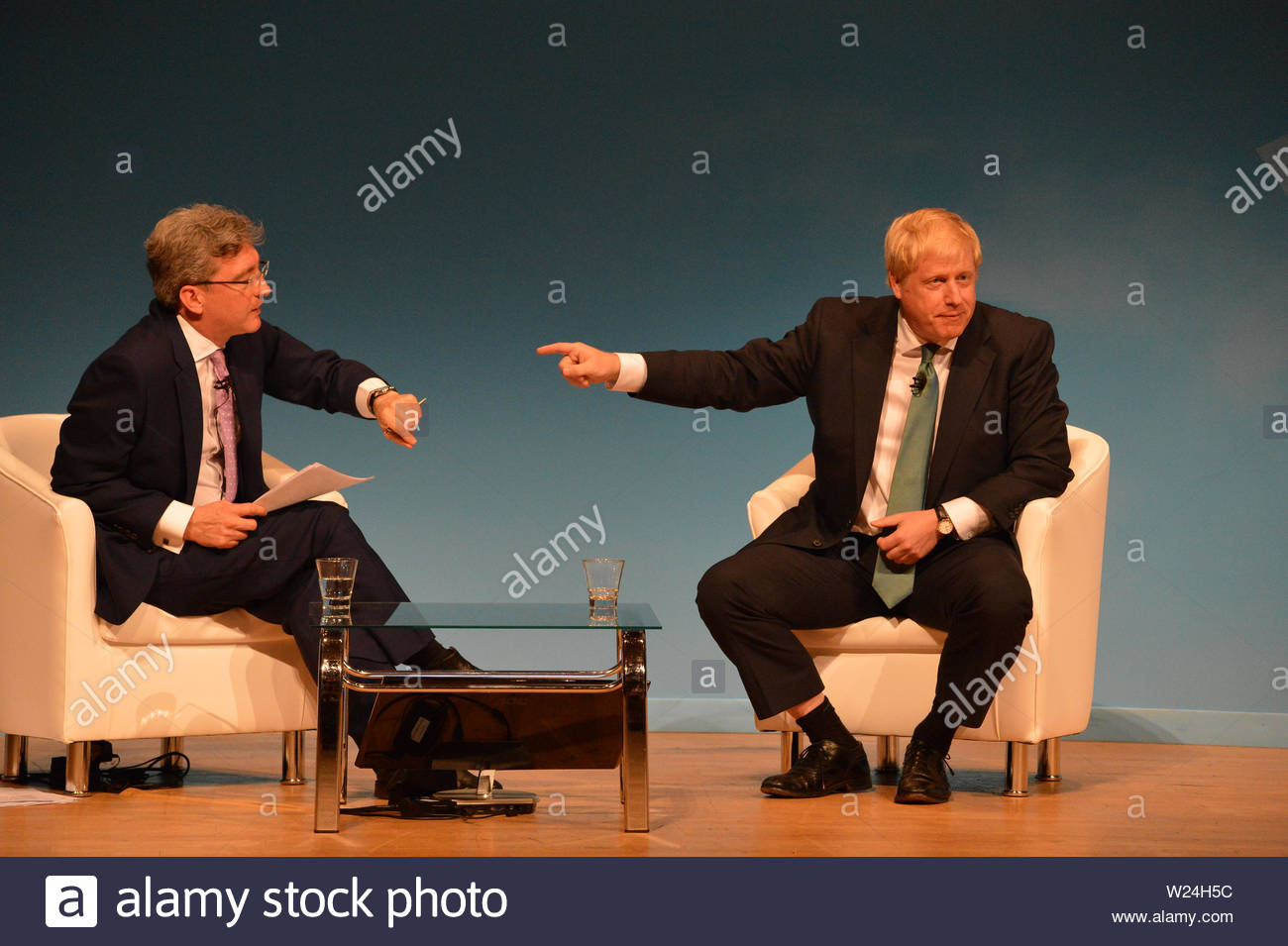 Perth, UK. 5 July 2019. Pictured: Boris Johnson MP.  Conservative leadership contenders Boris Johnson and Jeremy Hunt are to face Scottish party members at a hustings event in Perth.  The hustings in Perth is the latest in a series of events around the UK which see the two candidates make a speech to local members before taking questions from a host and the audience.  Party members should receive their ballots in the coming days, with the winner to be announced on 23 July. Credit: Colin Fisher/Alamy Live News Stock Photo