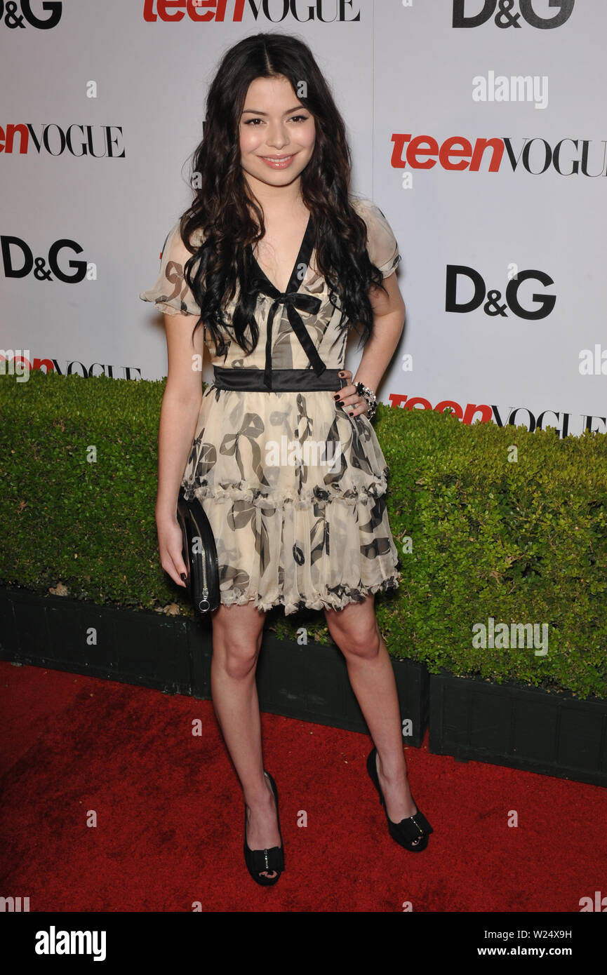 LOS ANGELES, CA. September 25, 2009: Miranda Cosgrove at the 7th anual Teen Vogue Young Hollywood party at Milk Studios, Hollywood. © 2009 Paul Smith / Featureflash - Stock Image