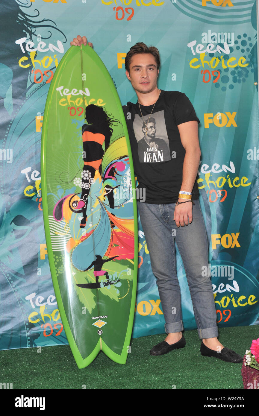 LOS ANGELES, CA. August 10, 2009: Ed Westwick at the 2009 Teen Choice Awards at the Gibson Amphitheatre Universal City. © 2009 Paul Smith / Featureflash - Stock Image