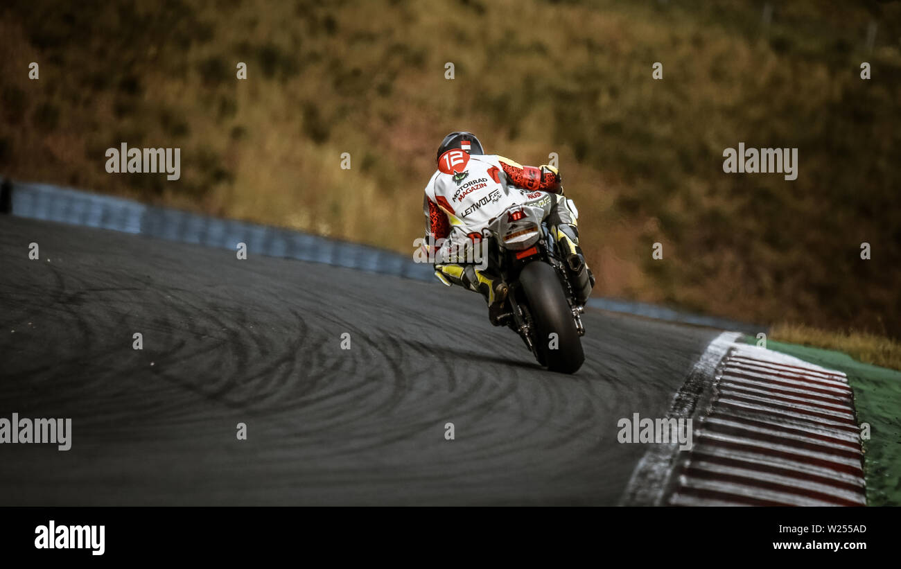 Oschersleben, Germany, June 09, 2019: motorcycle compete to FIM Endurance World Championship on 2019 season Stock Photo