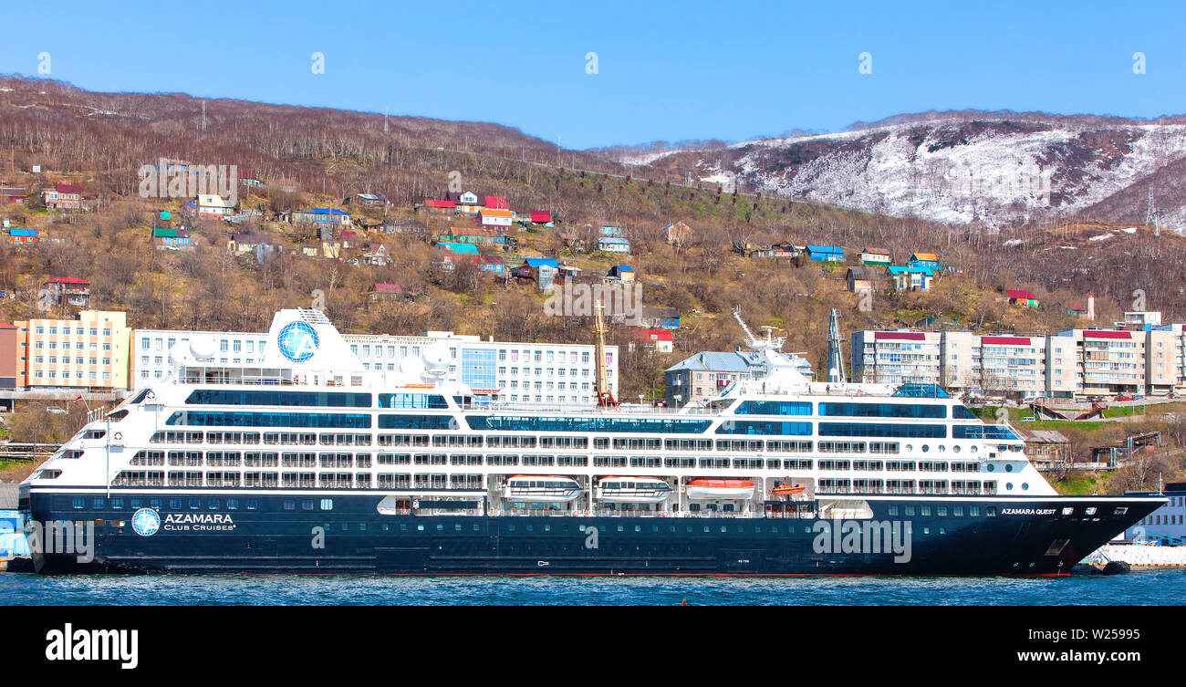 Kamchatka, Russia - 18 May, 2019: Cruise ship azamara quest at the