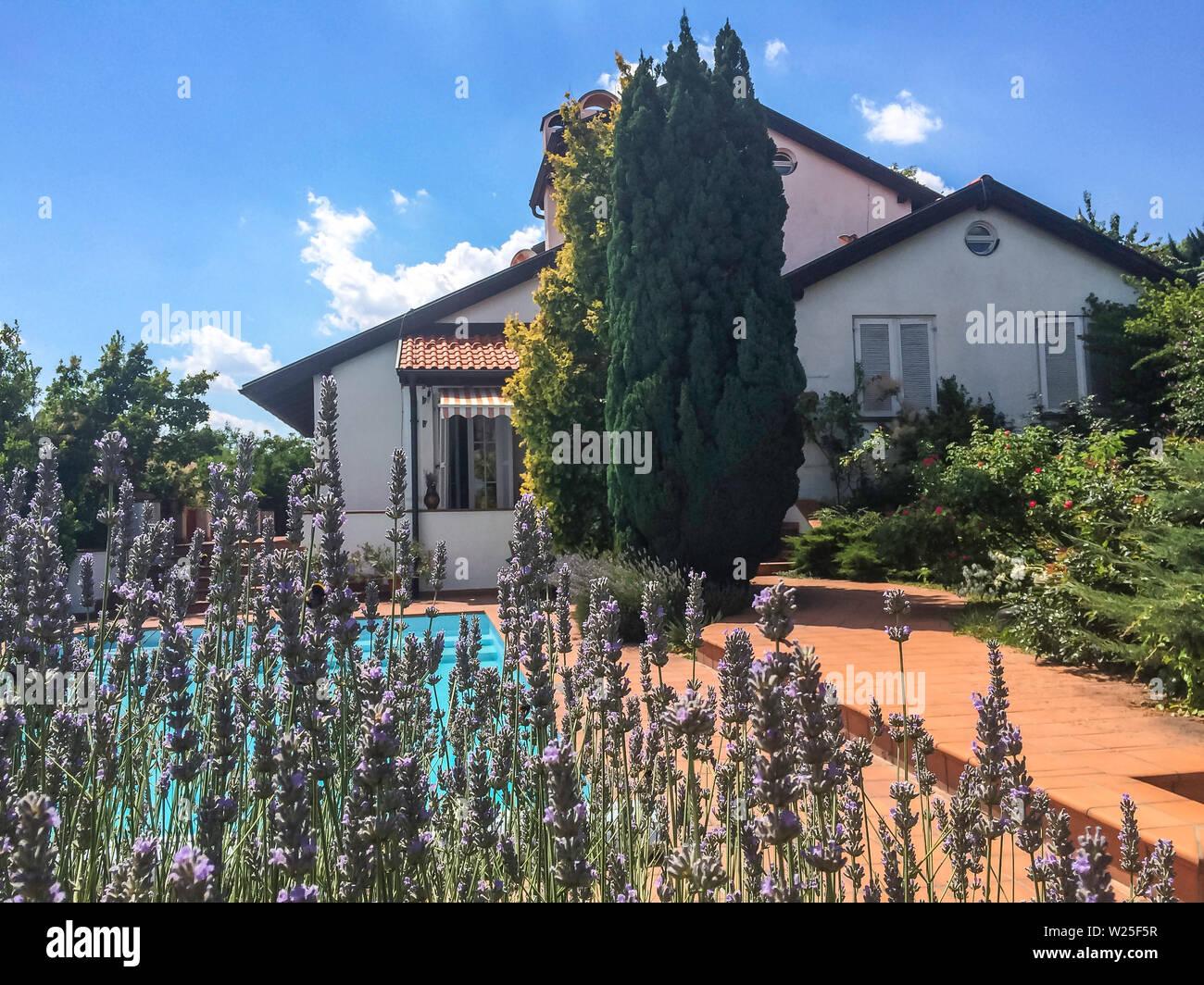 Provence House Lavande Garden Swimming Pool House For Sale Juille 05 2019 Budapest Buda 1025 Hungary Vl18 Biphoto Studio Stock Photo Alamy