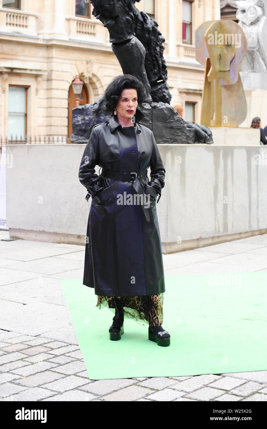 The Royal Academy of Arts Summer Exhibition Preview Party 2019. Piccadilly London. 04.05.19 Featuring: Bianca Jagger Where: London, United Kingdom When: 05 Jun 2019 Credit: WENN.com - Stock Image