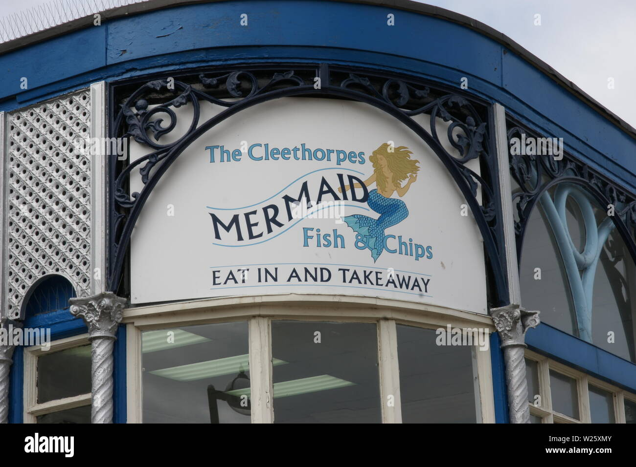 grimsby fish and chips - Stock Image