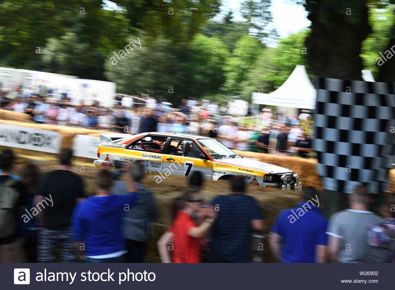Pictured today 5/7/19 is the second day of the Goodwood Festival of speed near Chichester in West Sussex Stock Photo