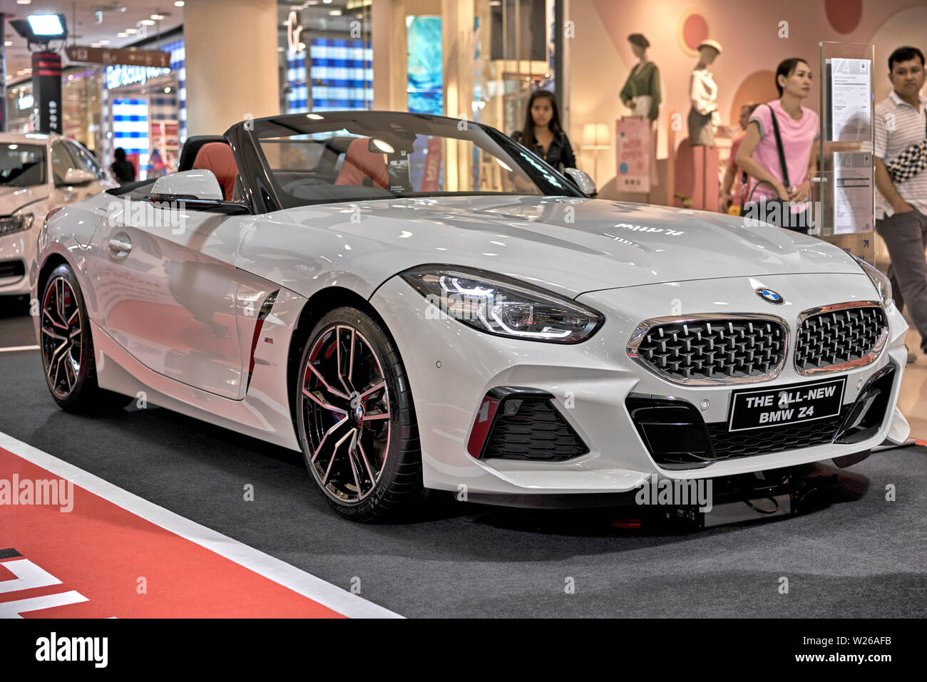 Bmw Z4 2019 New Roadster Convertible Drop Head Car In White Thailand Asia Stock Photo Alamy
