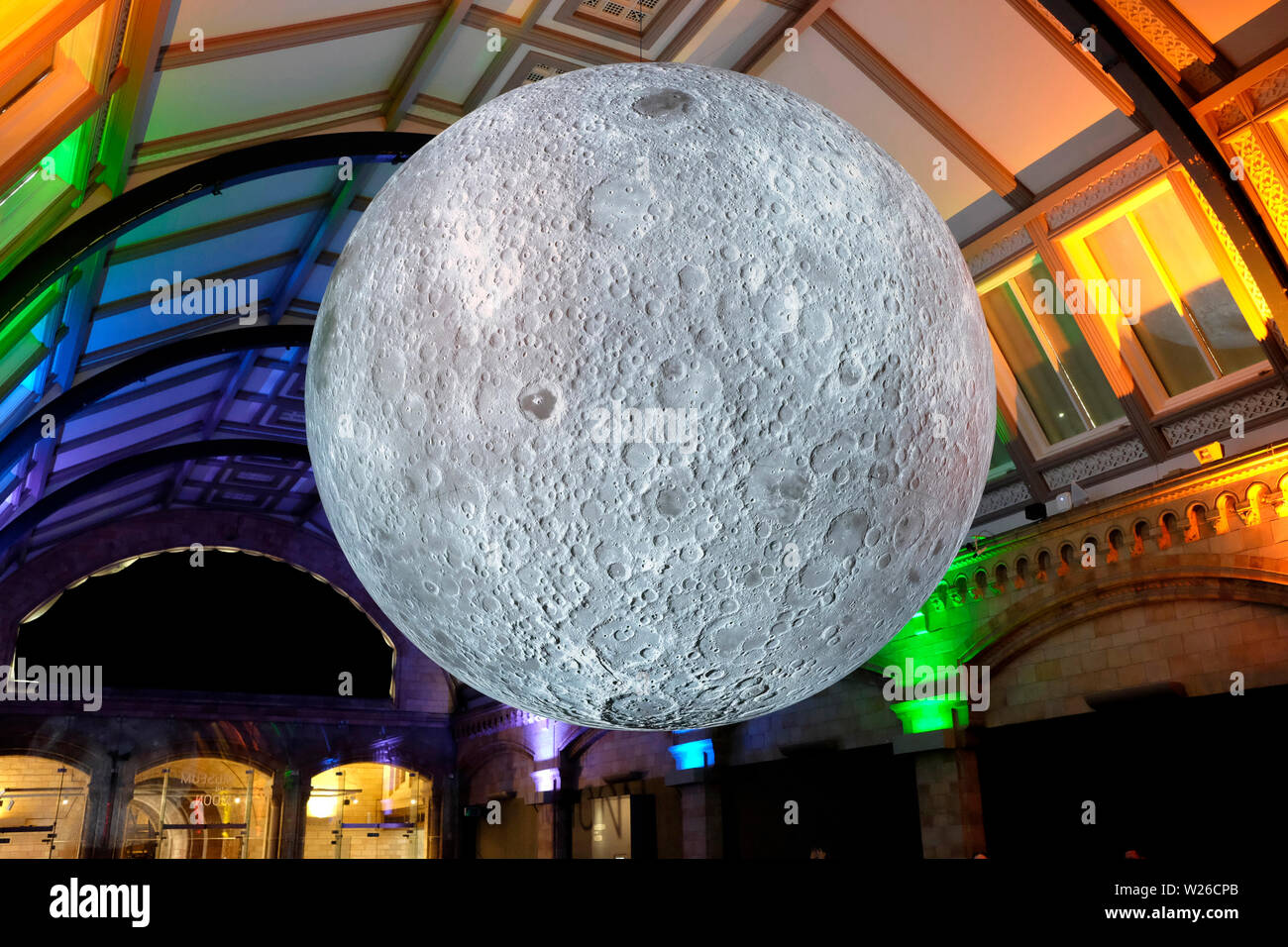 Moon exhibition at the natural history museum in South Kensington, London, UK - Stock Image