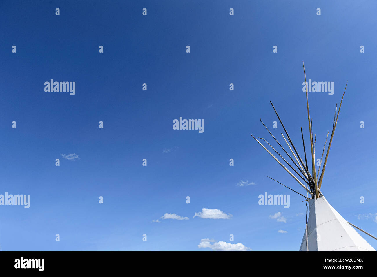 First Nations teepee (wigwam or tipi) - Stock Image
