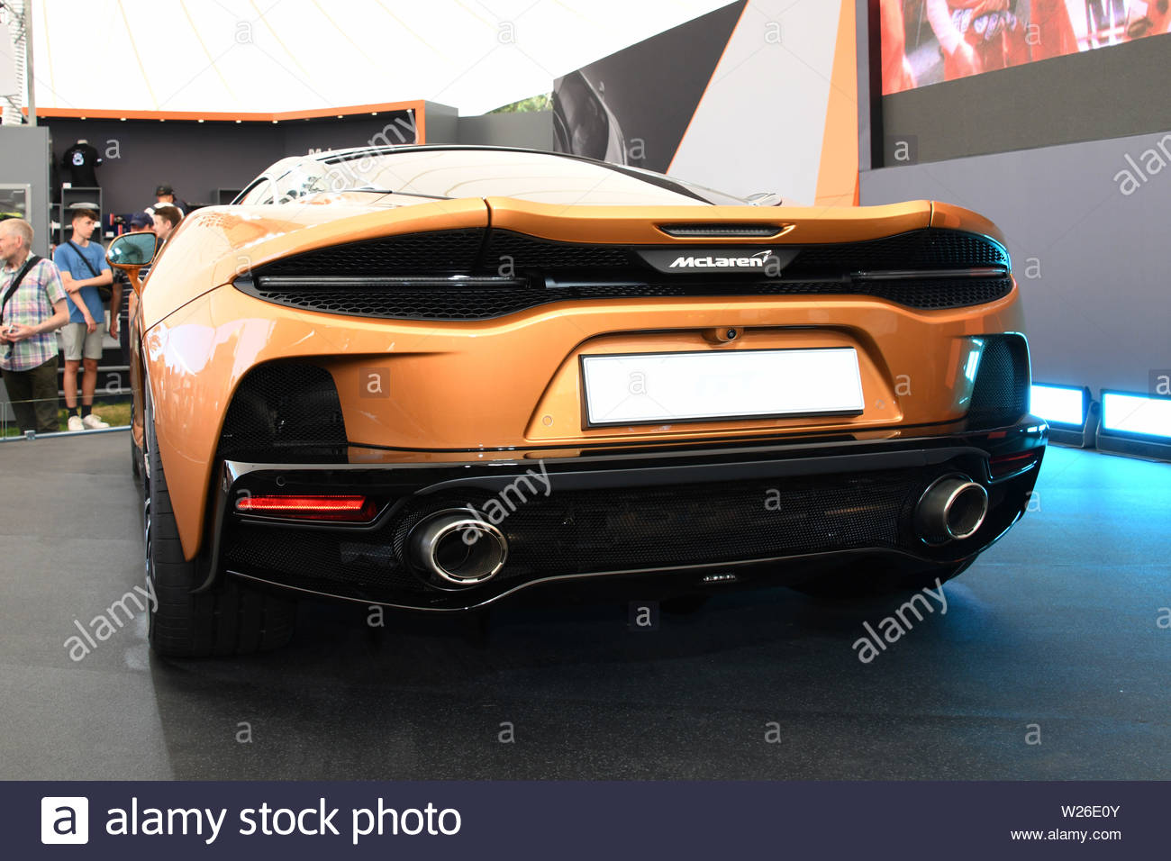 Pictured 4/7/19 is the first day of the Goodwood Festival of speed near Chichester in West Sussex Stock Photo