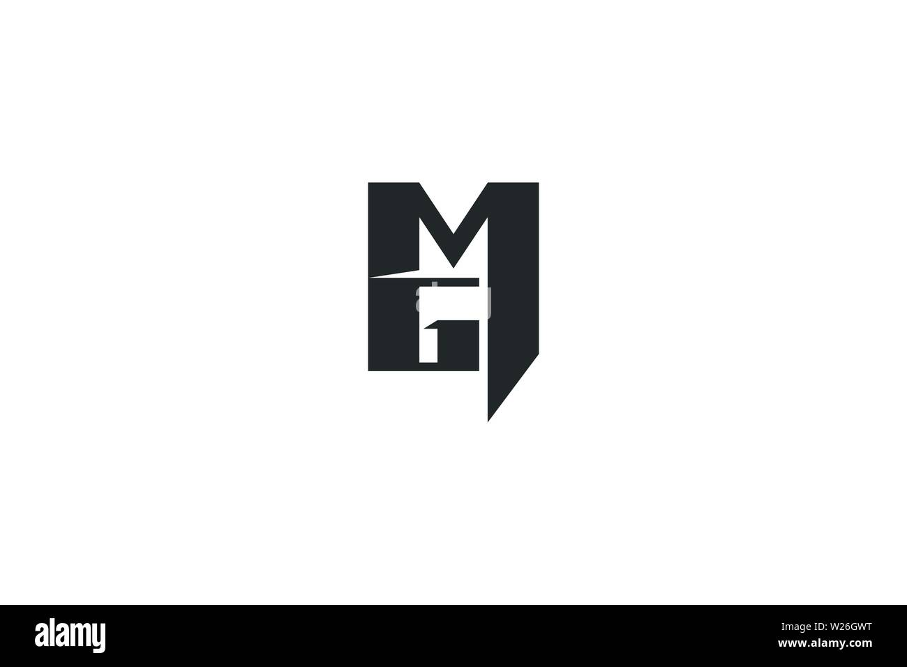 Letter M G Logo Designs Inspiration Isolated On White