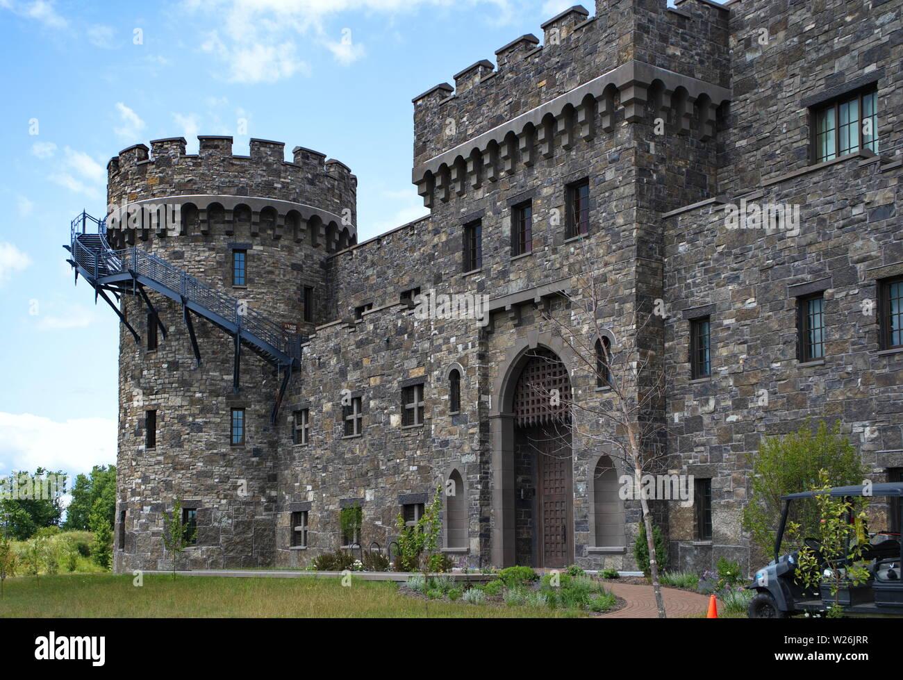Verona, WI USA  Jul 2018  Unique architectural buildings of